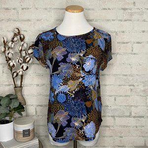 H&M | Blue & Brown Floral T-Shirt